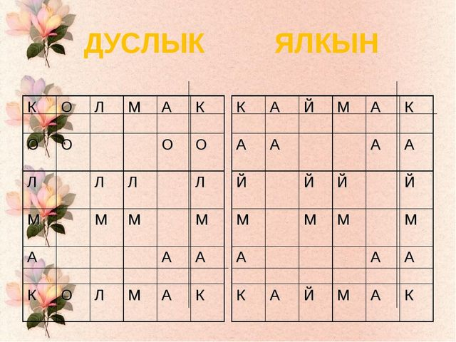 ДУСЛЫК ЯЛКЫН КОЛМАК ОООО ЛЛЛЛ ММММ ААА КОЛМАК К...