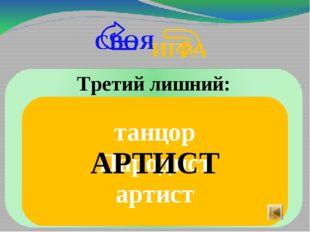 танцор Пародист артист АРТИСТ Третий лишний: СВОЯ ИГРА
