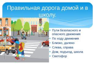 Правильная дорога домой и в школу. Пути безопасного и опасного движения По хо
