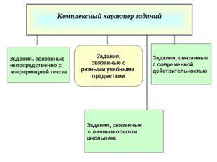Задания, связанные с современной действительностью Задания, связанные с разны