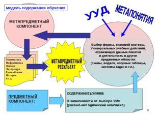 * модель содержания обучения