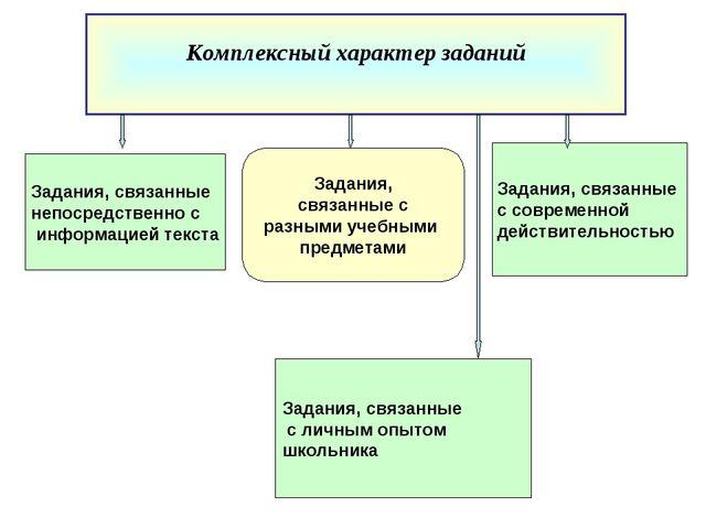 Задания, связанные с современной действительностью Задания, связанные с разны...