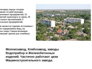 На территории города сегодня расположено 12 действующих промышленных предприя