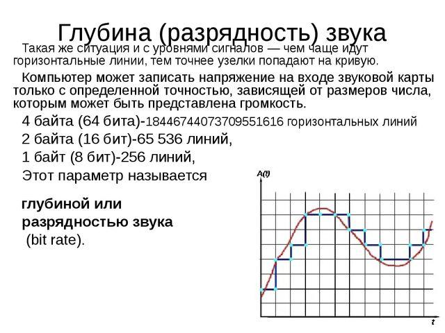 Такая же ситуация и с уровнями сигналов — чем чаще идут горизонтальные линии,...