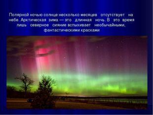 Полярной ночью солнце несколько месяцев отсутствует на небе. Арктическая зима