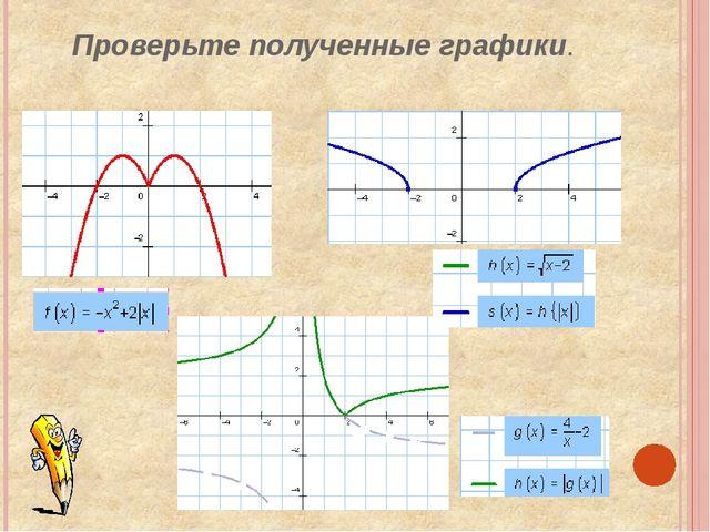 Проверьте полученные графики.