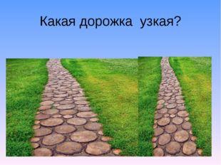 Какая дорожка узкая?