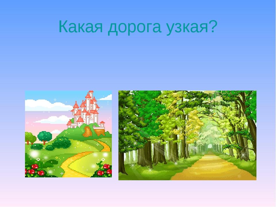Какая дорога узкая?