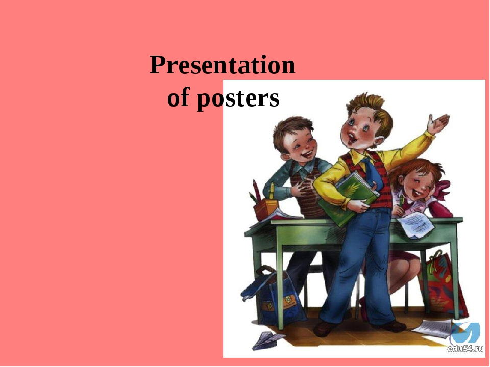 Presentation of posters