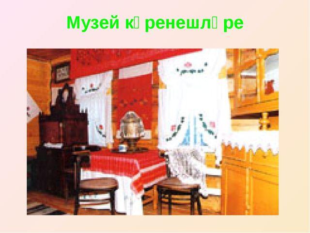 Музей күренешләре