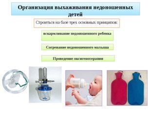 Организация выхаживания недоношенных детей Строиться на базе трех основных пр