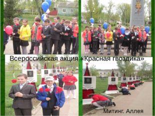Всероссийская акция «Красная гвоздика» Митинг. Аллея славы.