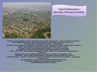 Город Будённовск с высоты птичьего полёта Буденновск, город краевого значения