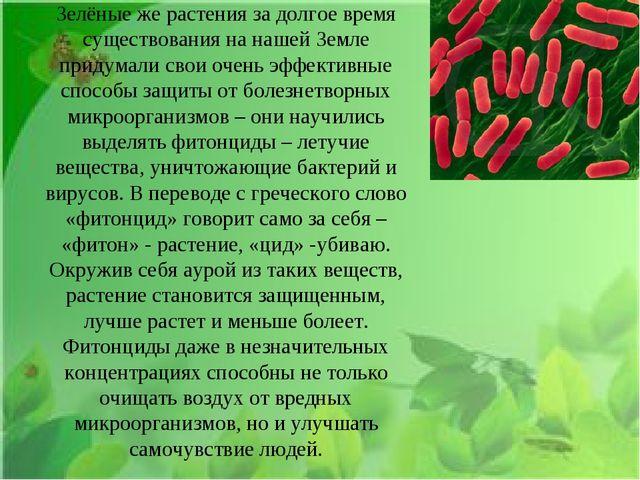 Зелёные же растения за долгое время существования на нашей Земле придумали св...