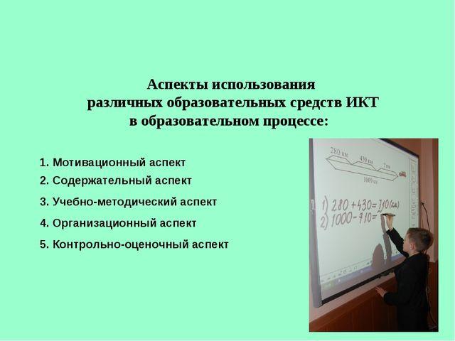 Аспекты использования различных образовательных средств ИКТ в образовательном...