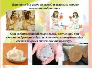 Египтяне для ухода за кожей и волосами также готовили особую смесь. Они соеди