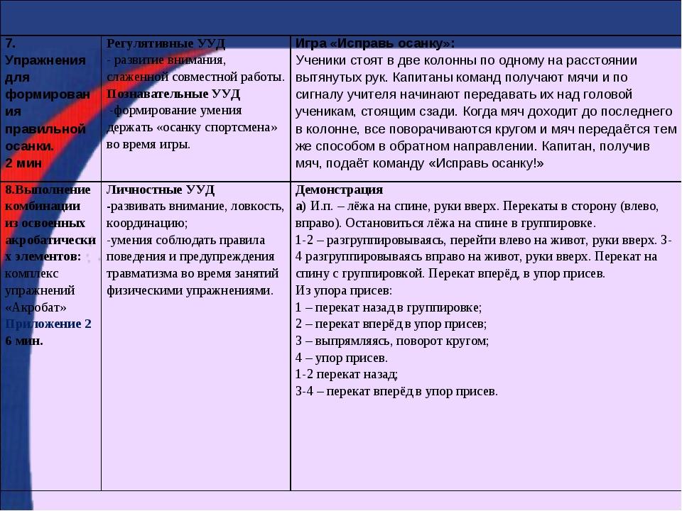 7. Упражнения для формирования правильной осанки. 2 минРегулятивные УУД - ра...
