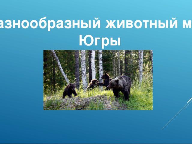 Разнообразный животный мир Югры