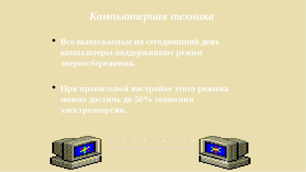 Компьютерная техника Все выпускаемые на сегодняшний день компьютеры поддержив...