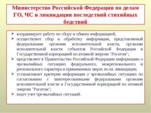 Министерство Российской Федерации по делам ГО, ЧС и ликвидации последствий ст