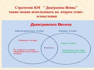 """Стратегию КМ """" Диаграмма Венна"""" также можно использовать на втором этапе"""