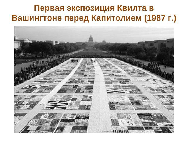 Первая экспозиция Квилта в Вашингтоне перед Капитолием (1987 г.)