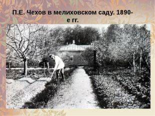 П.Е. Чехов в мелиховском саду. 1890-е гг.