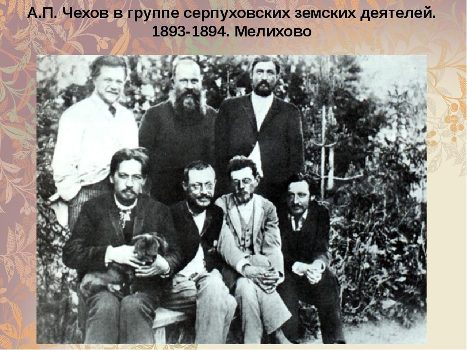 А.П. Чехов в группе серпуховских земских деятелей. 1893-1894. Мелихово