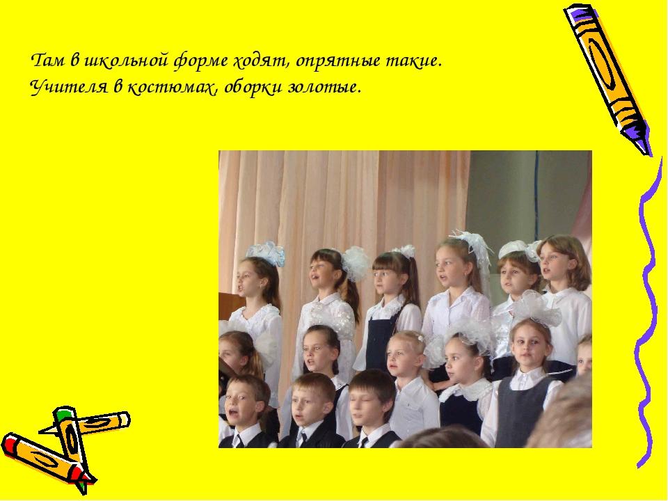 Там в школьной форме ходят, опрятные такие. Учителя в костюмах, оборки золотые.