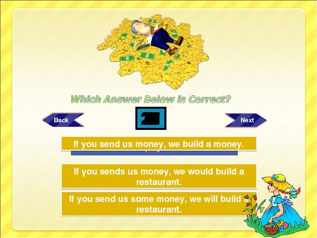 Try Again Try Again Great Job! If you sends us money, we would build a restau...