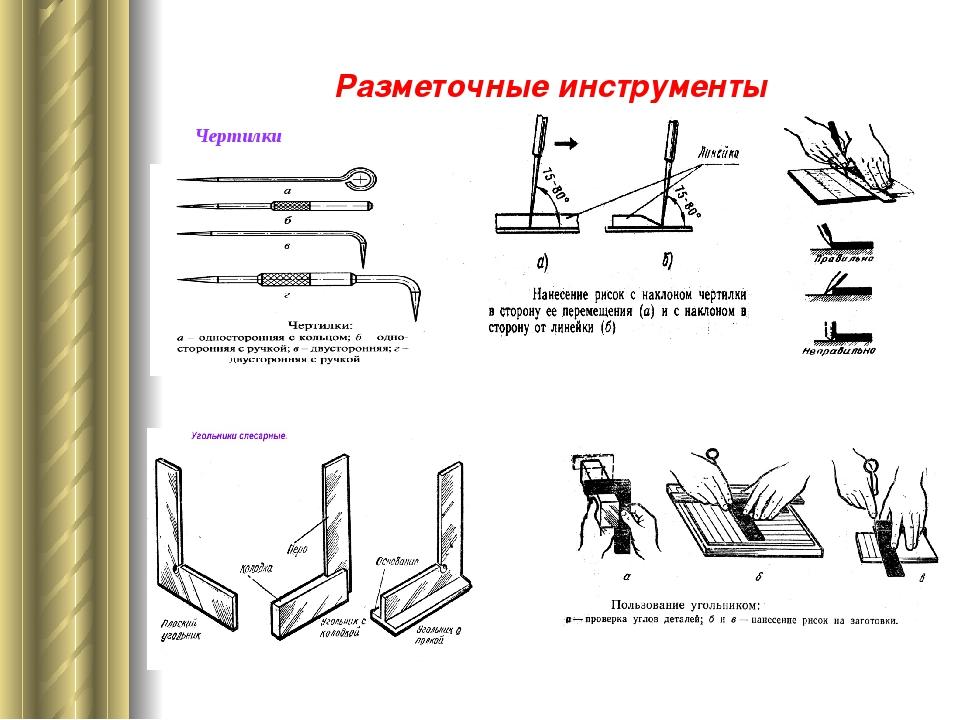 Разметочные инструменты Чертилки лесарные