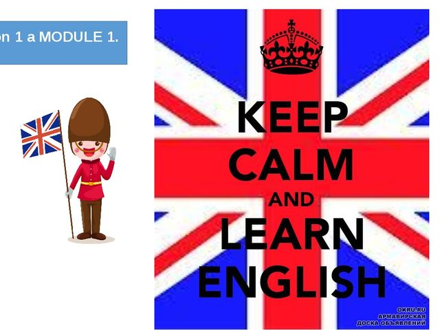 Lesson 1 a MODULE 1.