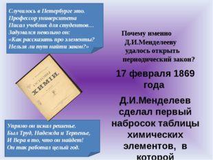 Почему именно Д.И.Менделееву удалось открыть периодический закон? 17 февраля