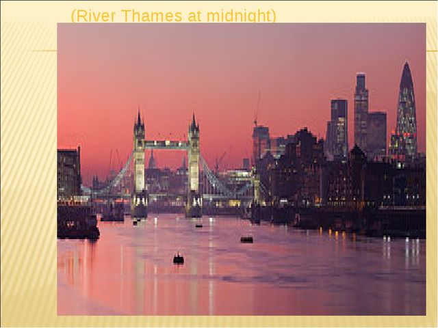 (River Thames at midnight)