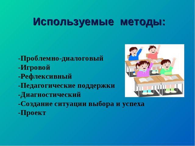 -Проблемно-диалоговый -Игровой -Рефлексивный -Педагогические поддержки -Диагн...