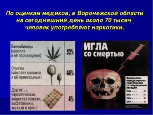 По оценкам медиков, в Воронежской области на сегодняшний день около 70 тысяч