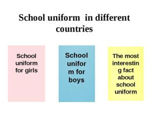 School uniform in different countries School uniform for girls School uniform