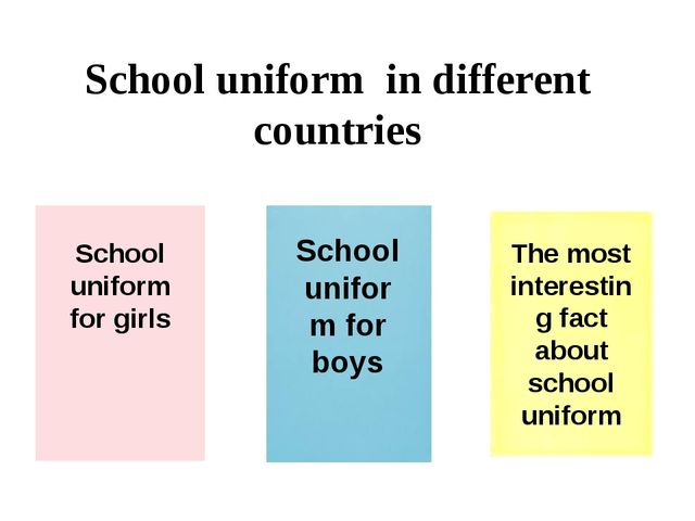 School uniform in different countries School uniform for girls School uniform...