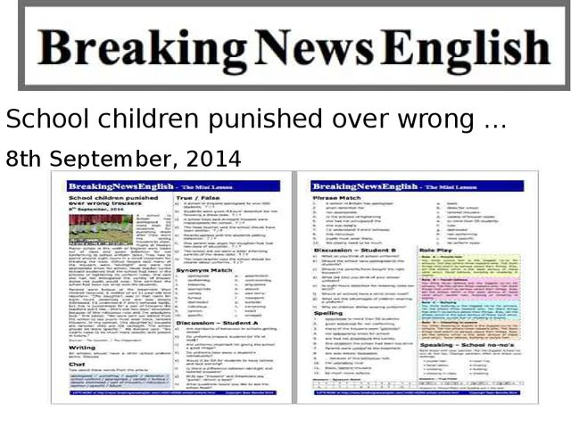 School children punished over wrong … 8th September, 2014
