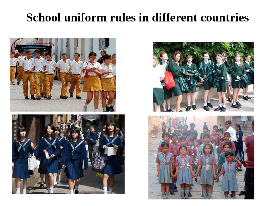School uniform rules in different countries