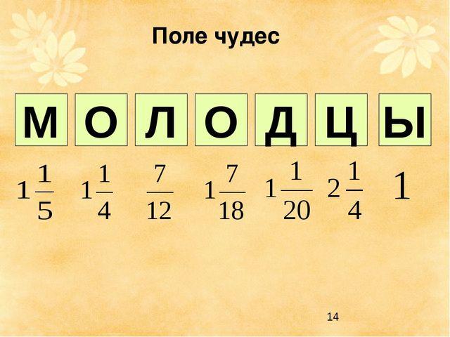 Поле чудес 1 2 3 4 5 6 7 Л О О Д М Ц Ы