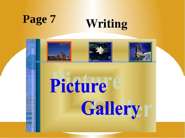Page 7 Writing
