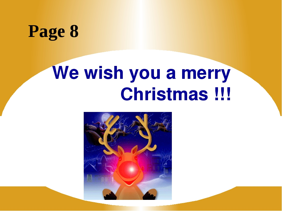 We wish you a merry Christmas !!! Page 8