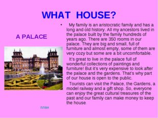 WHAT HOUSE? My family is an aristocratic family and has a long and old histor