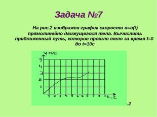 Задача №7 На рис.2 изображен график скорости u=u(t) прямолинейно движущегося
