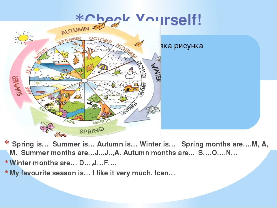 Spring is… Summer is… Autumn is… Winter is… Spring months are….M, A, M. Summ...