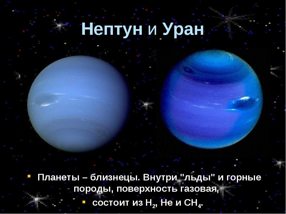 """Планеты – близнецы. Внутри """"льды"""" и горные породы, поверхность газовая, состо..."""