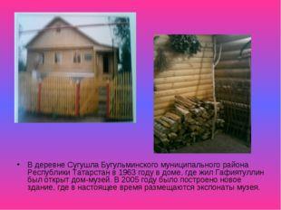 В деревне Сугушла Бугульминского муниципального района Республики Татарстан в