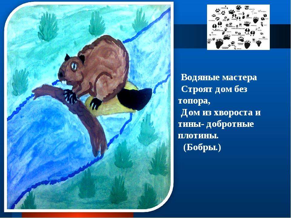 Водяные мастера Строят дом без топора, Дом из хвороста и тины- добротные пло...