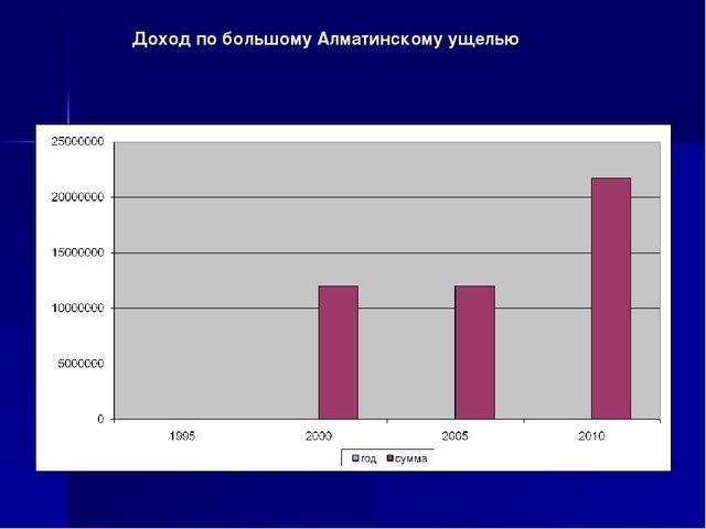 Доход по большому Алматинскому ущелью